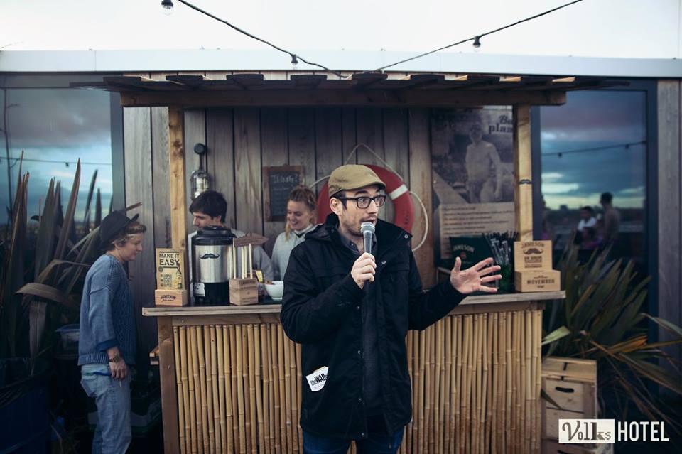 Storytelling performance at Badplaats Sessions, Volkshotel Amsterdam 2016