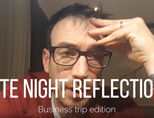 Late-night reflections on a business trip