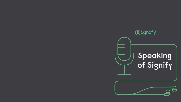 Logo for Speaking of Signify podcast